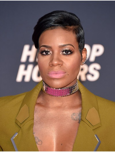 Fantasia Barrino Short Hairstyles Side Wig, Wigs For Black Women