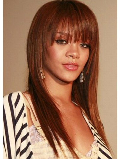 Gold Brown Capless Long Color Wig
