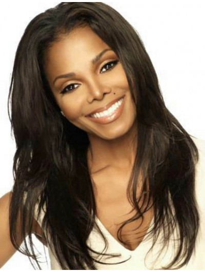 Janet Jackson Full Lace Long Remy Human Hair Wig