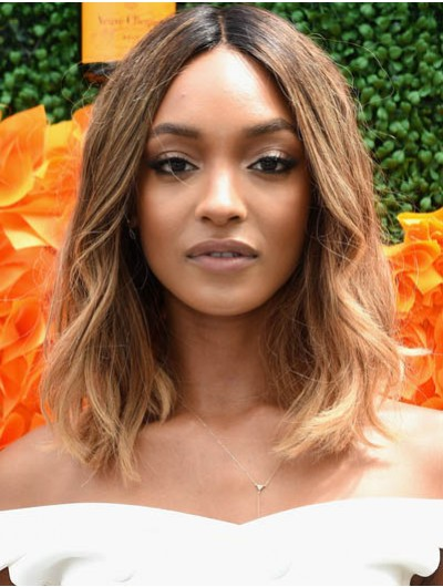 Jourdan Dunn Shoulder Length Hairstyles Medium Wig