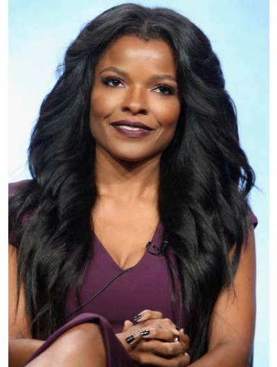 Keesha Sharp Long Hairstyles Feathered Flip Wig