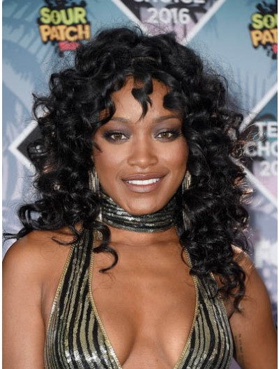 Keke Palmer Long Curls Capless Wig