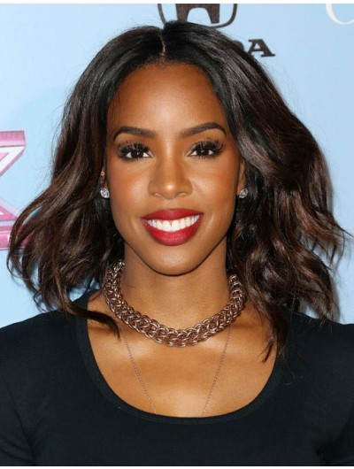 Kelly Rowland Layered Thick Wavy Wig