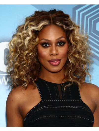 Laverne Cox Shoulder Length Hairstyles Wig