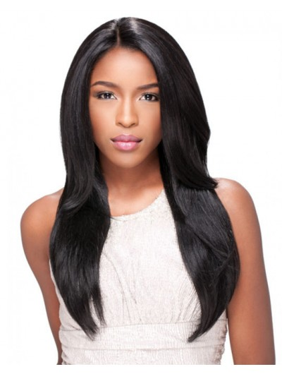 Natural Straight Layered African American Human Hair Wigs