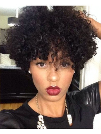Natural Short Curly Hairstyles Wig For Black Women, Buy Cheap Afro Wigs