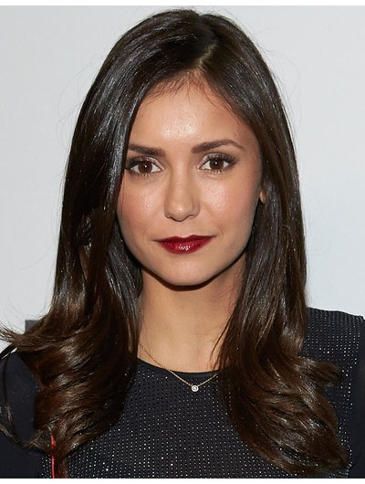 Nina Dobrev Long Hairstyles Lace Front Cut Wig