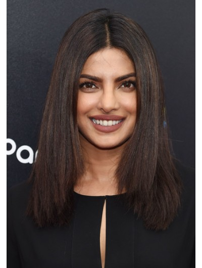 Priyanka Chopra Shoulder Length Hairstyles Wig