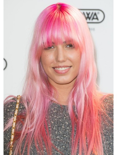 Amber Le Bon Long Straight Cut With Bangs Wig
