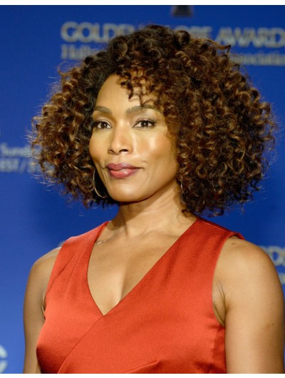 Angela Bassett Curled Out Bob Wig