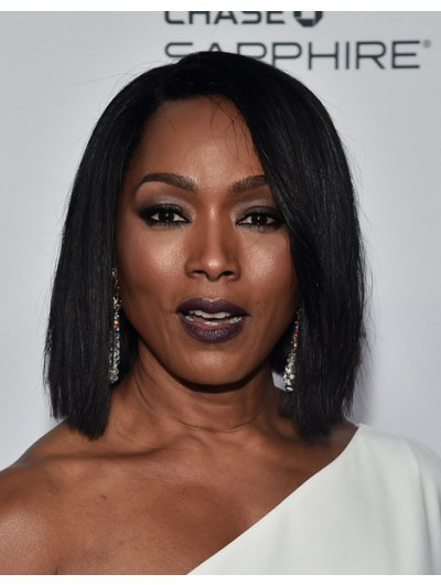 Angela Bassett Side Parted Straight Cut Wig