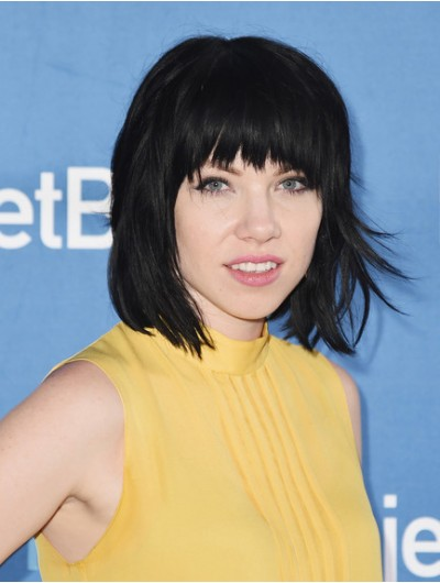 Carly Rae Jepsen Medium Cut With Bangs Wig