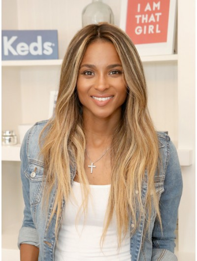 Ciara Long Hairstyles Long Wavy Cut Wig