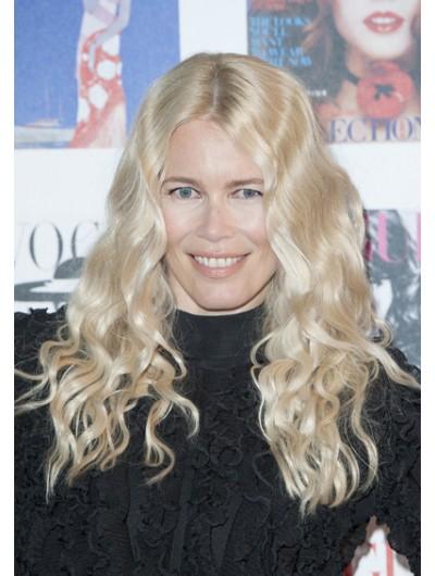 Claudia Schiffer Long Wavy Wig