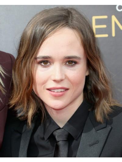 Ellen Page Medium Wavy Cut Wig