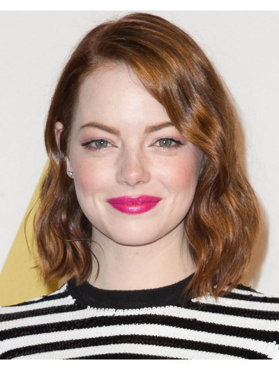 Emma Stone glamour Lace Front Wavy Wig