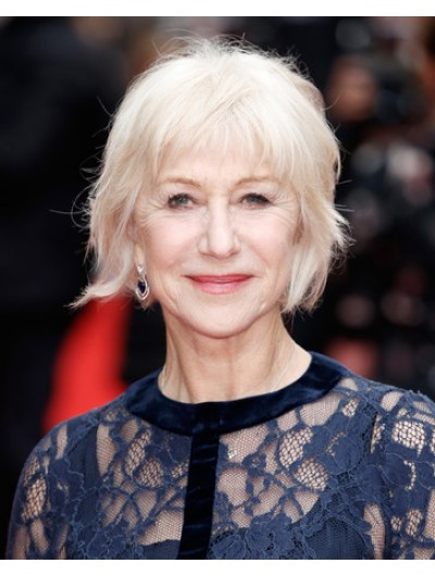 Helen Mirren Messy Cut Short Wig