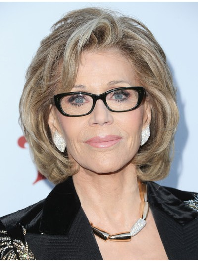 Jane Fonda Lace Front Bob Wig Celebrity Wigs For Women