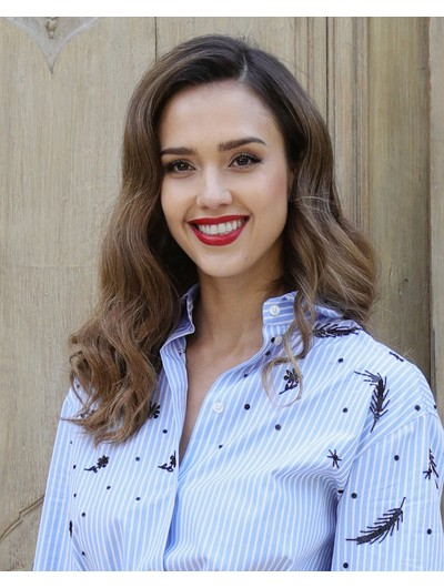 Jessica Alba Long Wavy Cut Wig