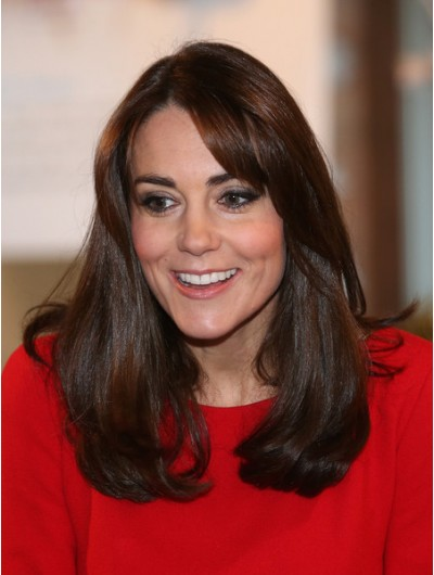 Kate Middleton Long Wavy Cut With Bangs Wig