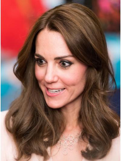 Kate Middleton Long Human Cut Wig