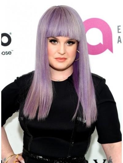 Kelly Osbourne Long Straight Cut With Bangs Wig