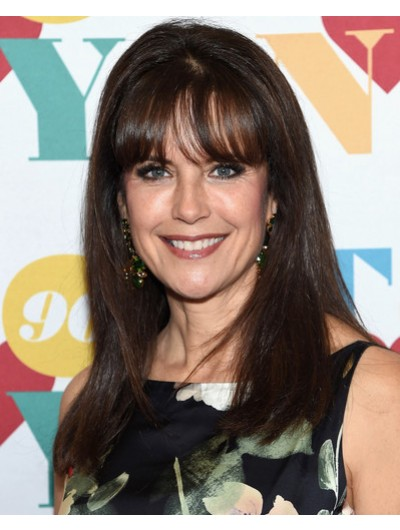 Kelly Preston Long Straight Cut With Bangs Wig