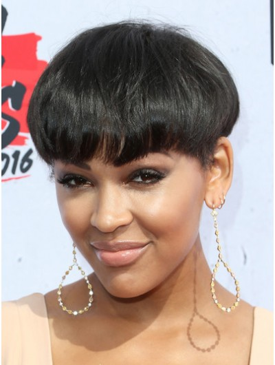 Meagan Good Bowl Cut Wig