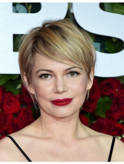 Short Straight Blonde Synthetic Hair Wig
