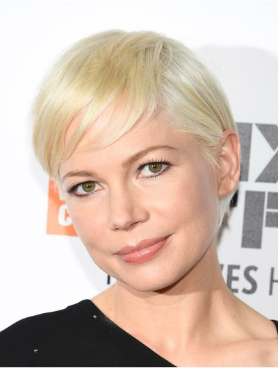 Straight Short Blonde Synthetic Hair Wig