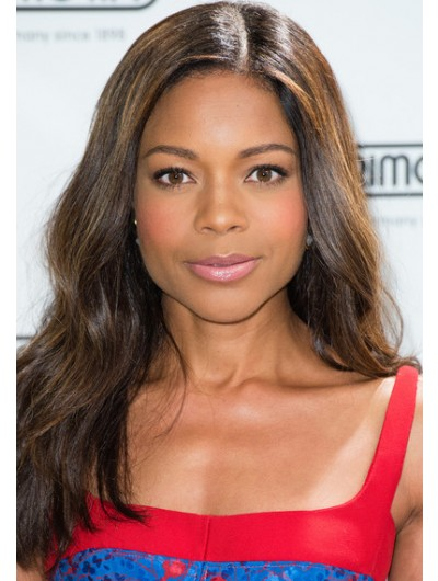 Naomie Harris Long Wavy Cut Wig