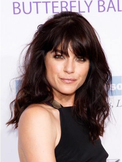 Selma Blair Long Wavy Cut With Bangs Wig