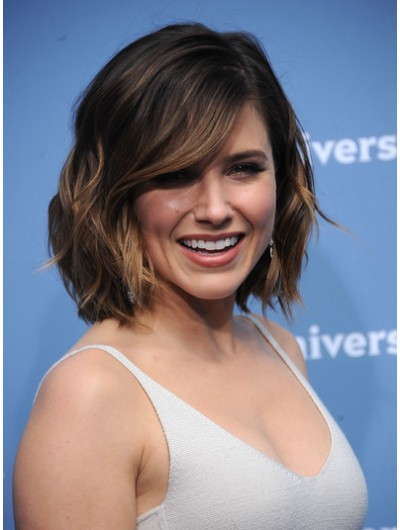 Sophia Bush Short Wavy Cut Wig