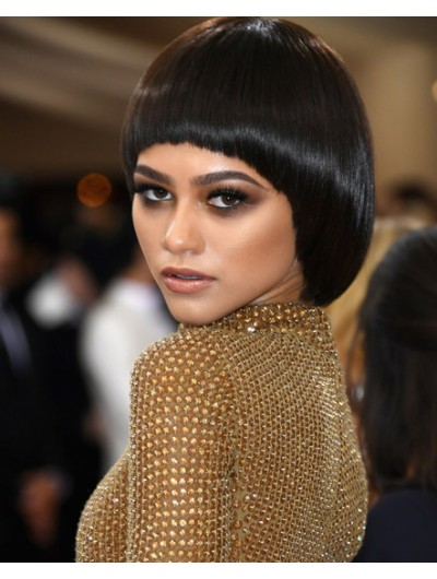 Zendaya Coleman Bowl Cut Short Wig