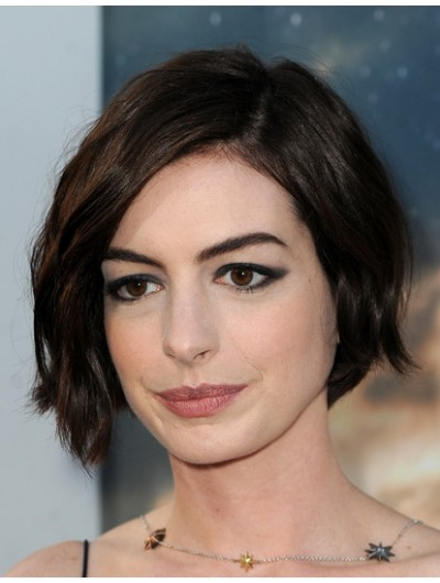 Short Wavy Brown Synthetic Hair Wig