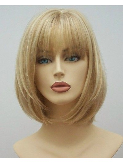 Synthetic Hair Capless Medium Straight Bobs Wig