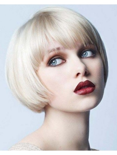 Synthetic Hair Capless Short Straight Bobs Wig