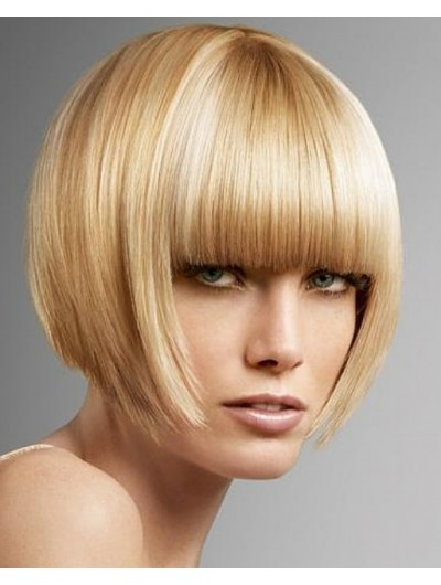 Synthetic Hair Capless Cropped Straight Bobs Wig