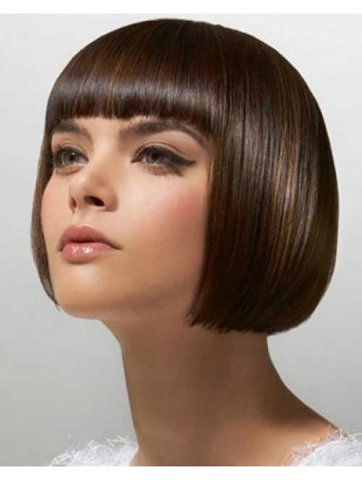 Remy Human Hair Capless Short Straight Bobs Wig