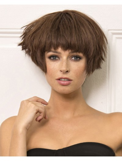 Synthetic Hair Capless Short Straight Wig With Bangs