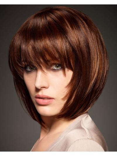 Synthetic Hair Capless Medium Straight Bobs Wig