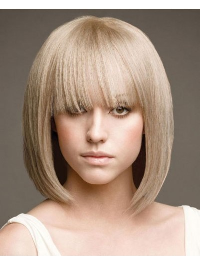 Bang Haircuts Medium Hairstyles Wig With Bangs
