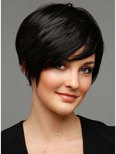 Cute Capless Bob Haircut Short Wig For Women