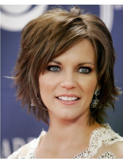 Short Hairstyles With Bangs And Layers Wig