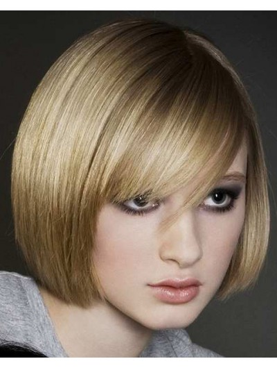 Short Layered Bob Hair Wig With Bangs