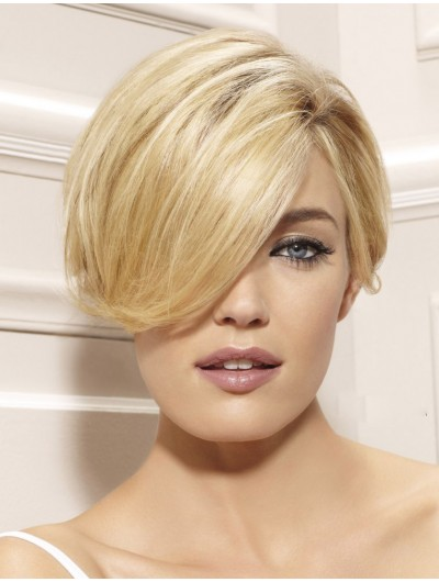 Short Neckline Haircut Capless Cropped Wig