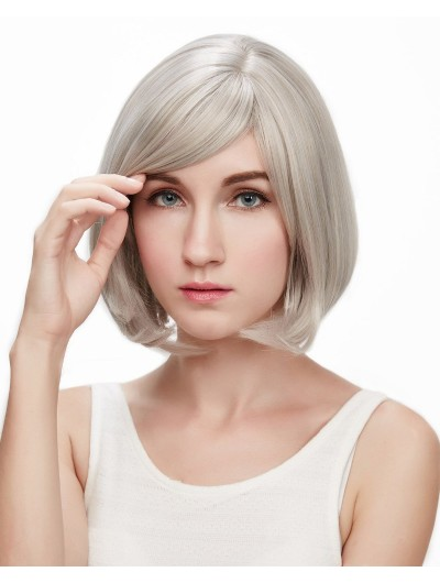 Sliver Short Perucas Sex Synthetic Wig For Women