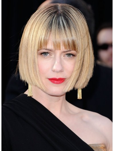 Sunrise Coigney Short Sleek Bob Hair Wig With Blunt Bangs