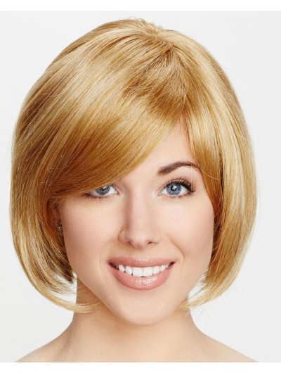 Straight Capless Chin Length Synthetic Hair Bobs Blonde Wig