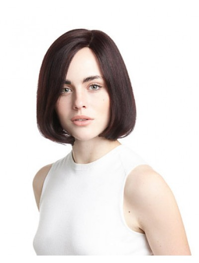 Wavy Lace Front Short Remy Human Hair Bobs Black Wig